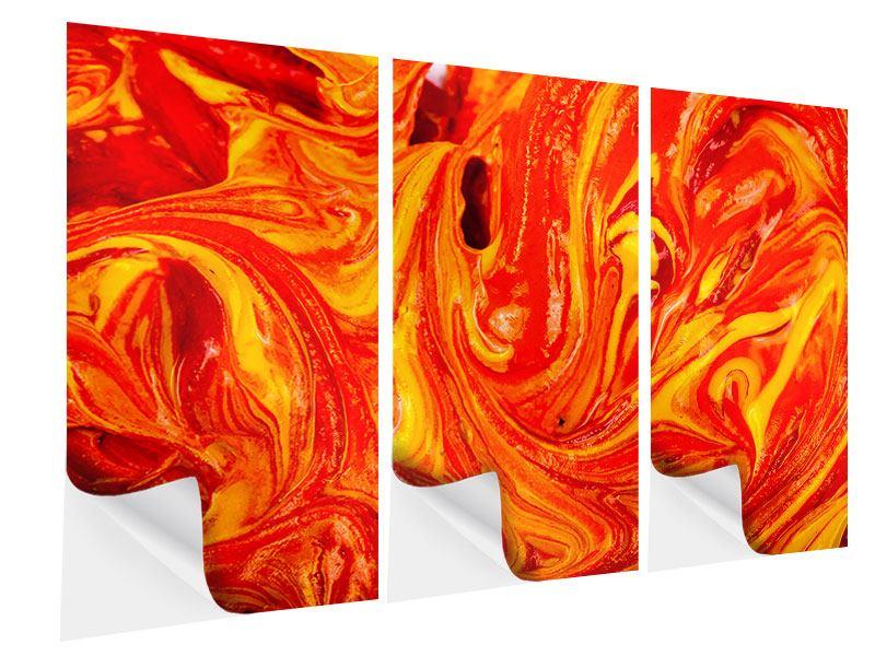 Klebeposter 3-teilig Wandgemälde