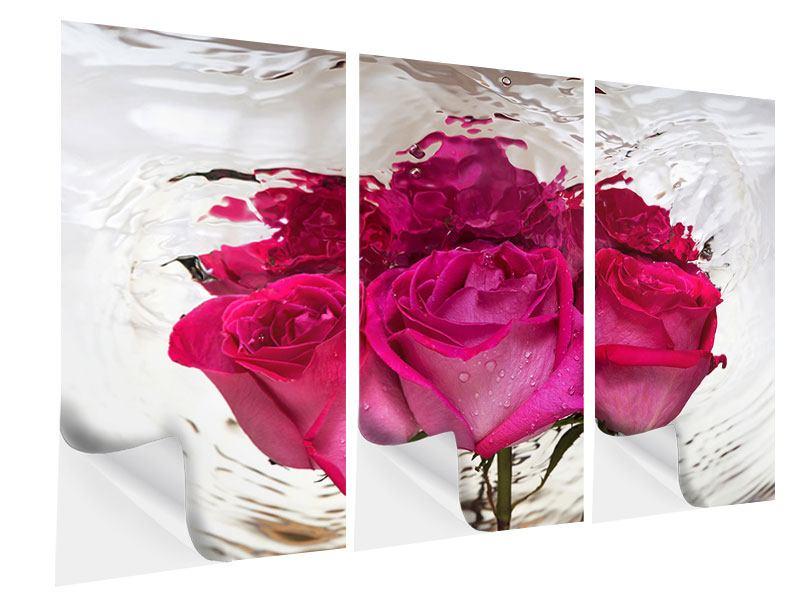 Klebeposter 3-teilig Die Rosenspiegelung