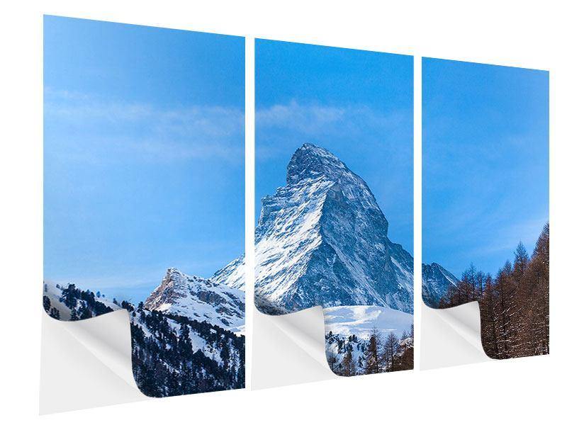 Klebeposter 3-teilig Das majestätische Matterhorn