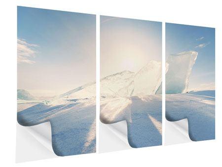 Klebeposter 3-teilig Eislandschaft