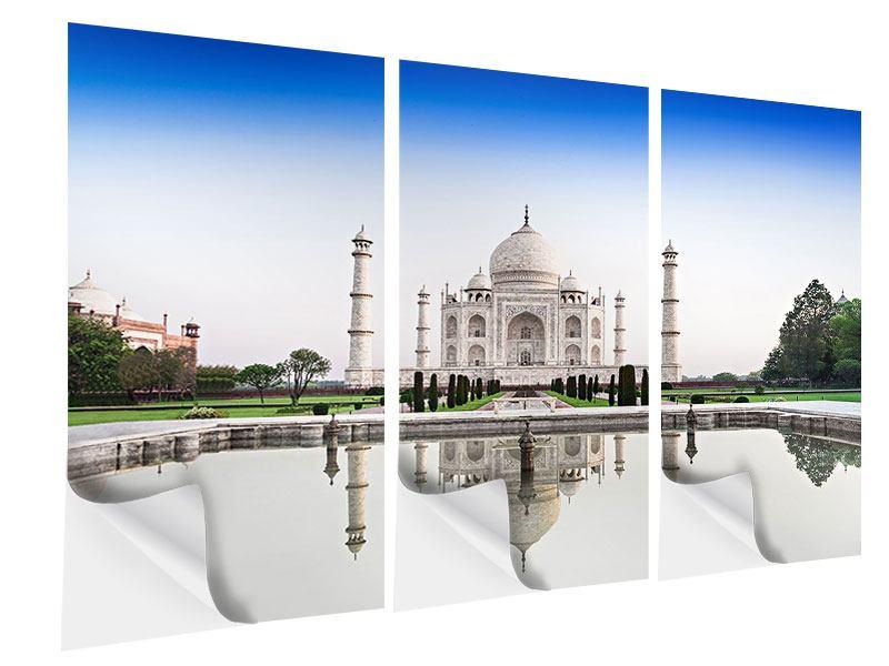 Klebeposter 3-teilig Taj Mahal