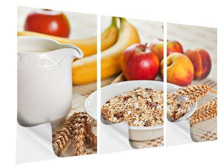Klebeposter 3-teilig Frühstück