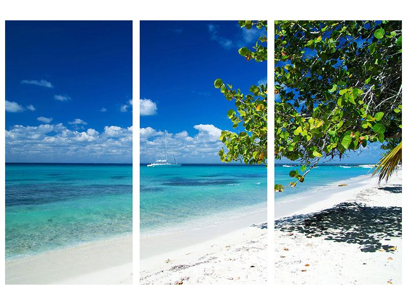 Klebeposter 3-teilig Happy Beach