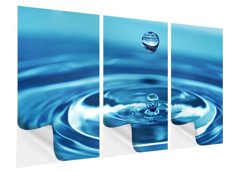 Klebeposter 3-teilig Der Wassertropfen
