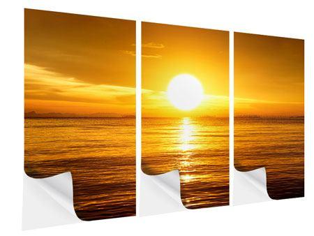 Klebeposter 3-teilig Traumhafter Sonnenuntergang