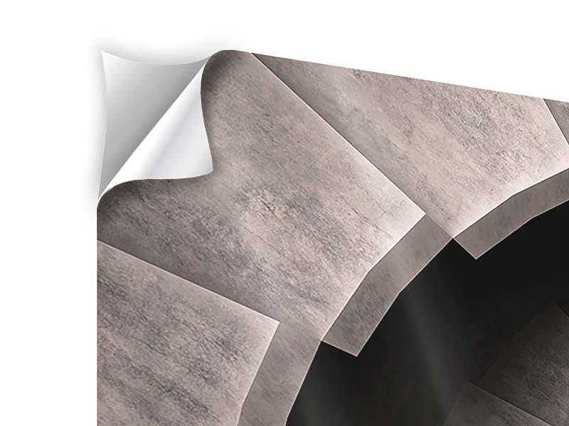 Klebeposter 3-teilig Steinwendeltreppe