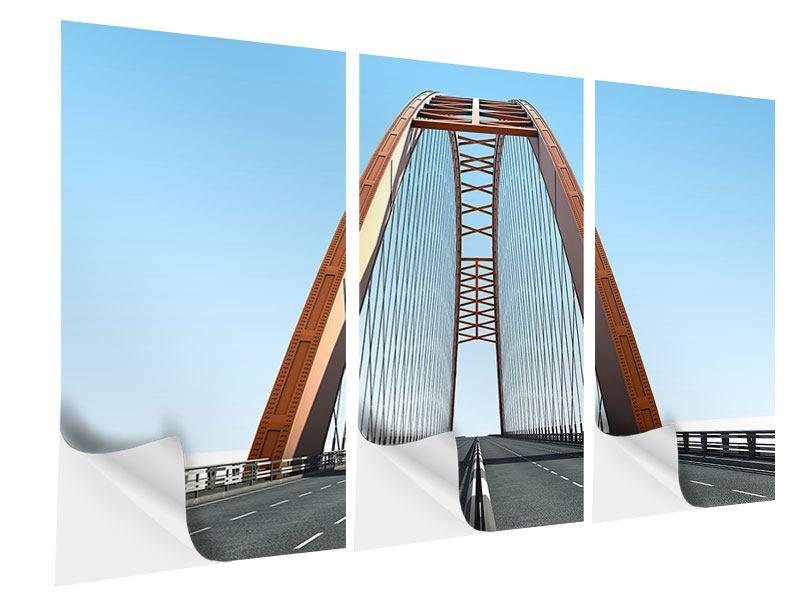 Klebeposter 3-teilig Brückenpanorama