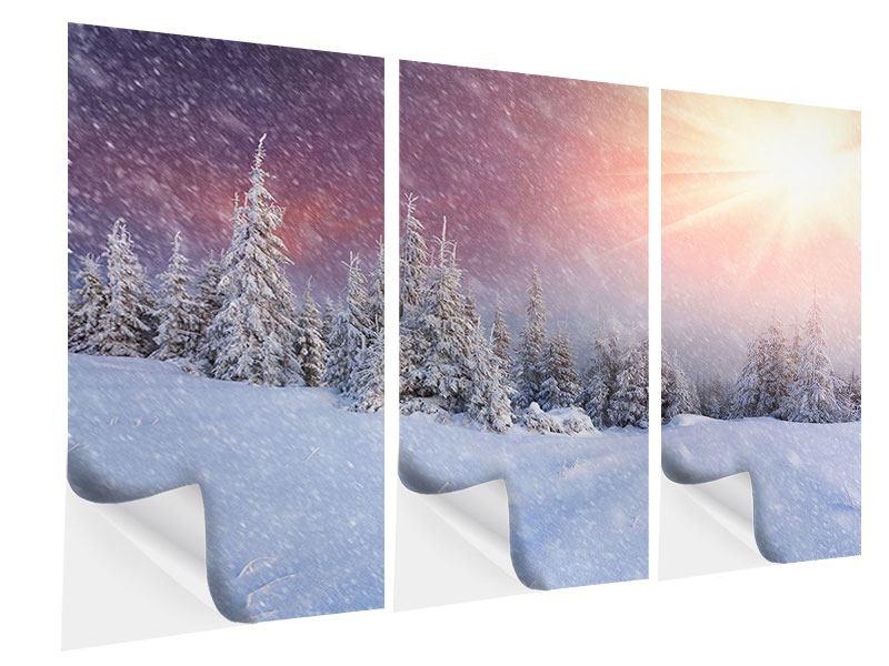 Klebeposter 3-teilig Mystischer Schneesturm