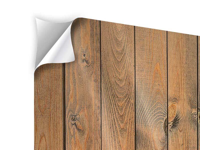 Klebeposter 3-teilig Bretterwand