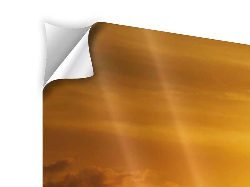 Klebeposter 3-teilig Sonnenuntergang See