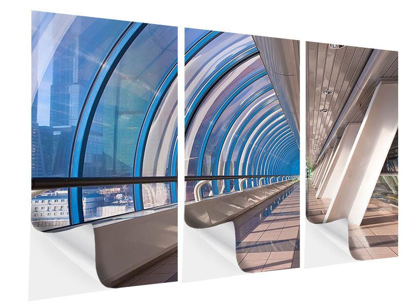 Klebeposter 3-teilig Hypermoderne Brücke
