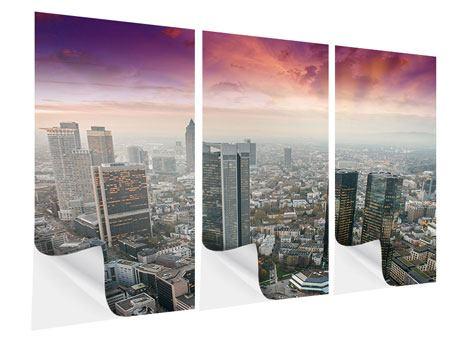 Klebeposter 3-teilig Skyline Penthouse in New York