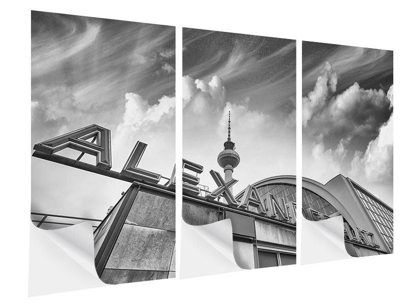 Klebeposter 3-teilig Alexanderplatz