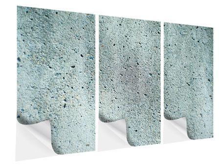Klebeposter 3-teilig Beton in Grau
