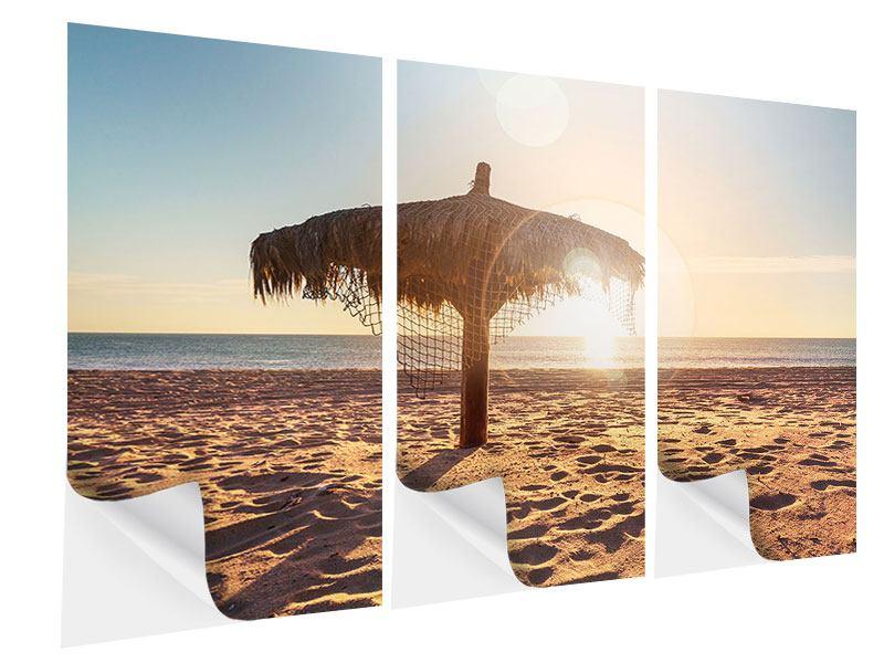 Klebeposter 3-teilig Der Sonnenschirm
