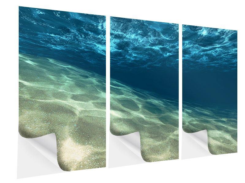 Klebeposter 3-teilig Unter dem Wasser