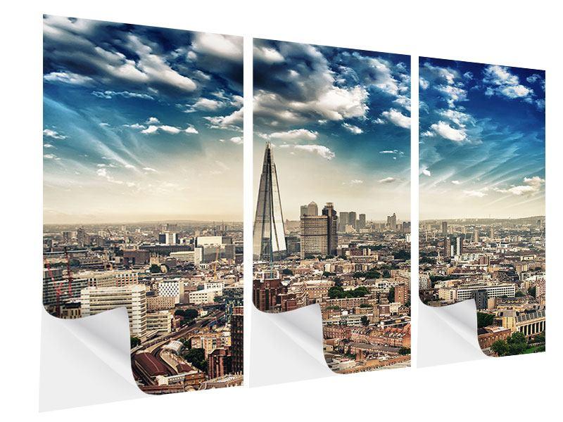 Klebeposter 3-teilig Skyline Über den Dächern von London