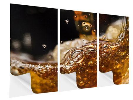 Klebeposter 3-teilig Cognac