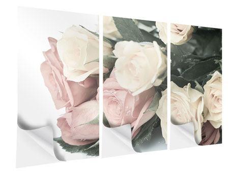 Klebeposter 3-teilig Rosenromantik
