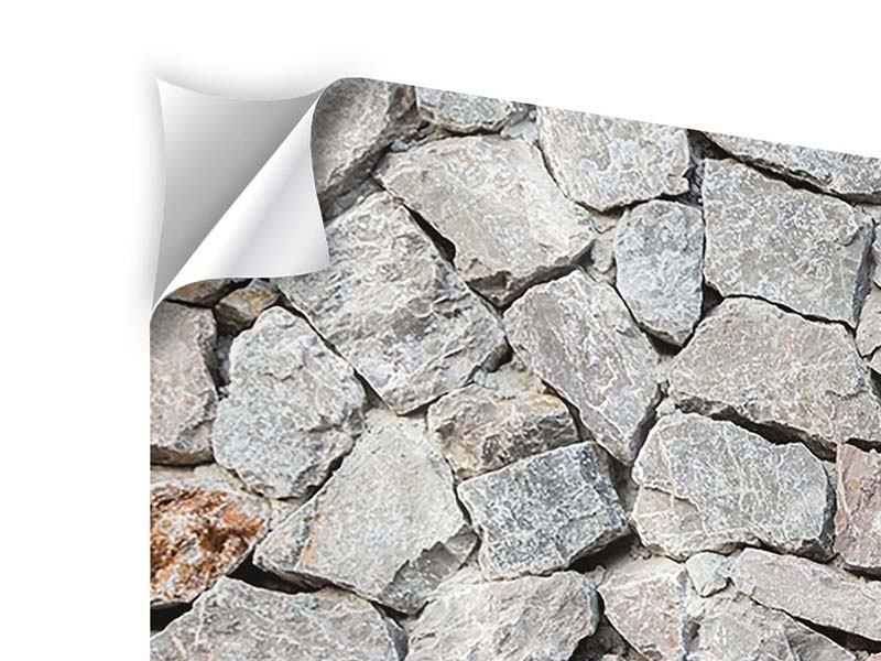 Klebeposter 3-teilig Grunge-Stil Mauer