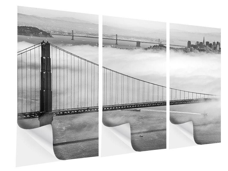 Klebeposter 3-teilig Golden Gate Brücke