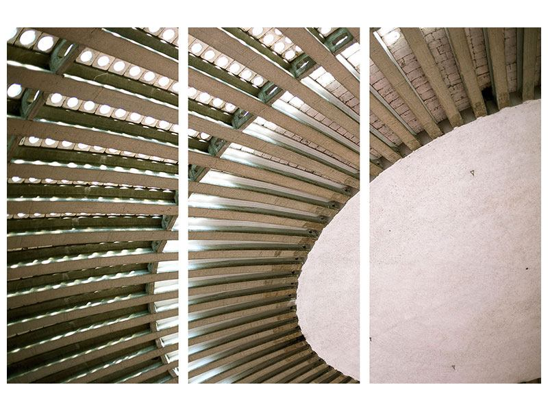 Klebeposter 3-teilig Abstraktes Rad