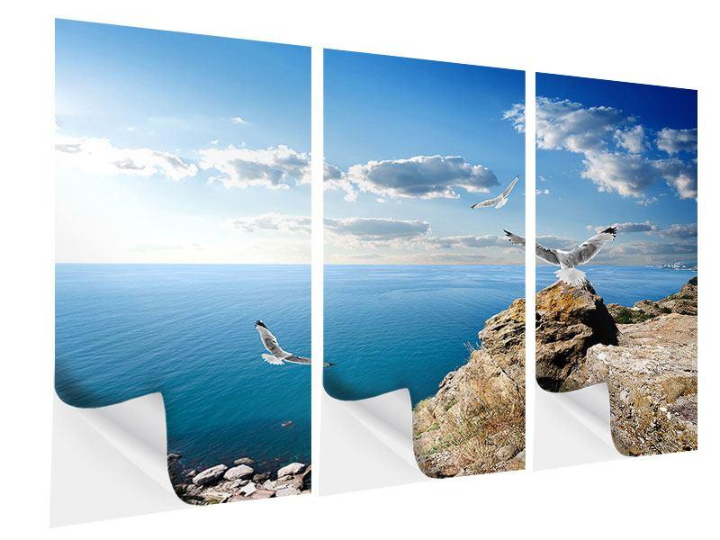 Klebeposter 3-teilig Die Möwen und das Meer