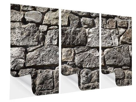 Klebeposter 3-teilig Grosses Mauerwerk