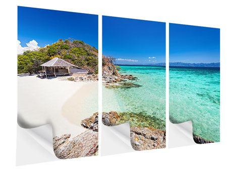 Klebeposter 3-teilig Das Haus am Strand