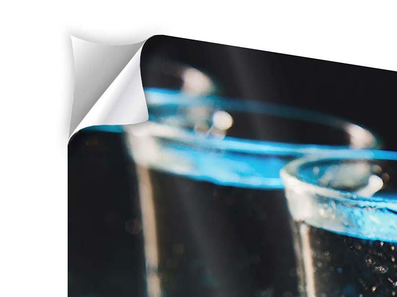 Klebeposter 3-teilig Wodka Pur
