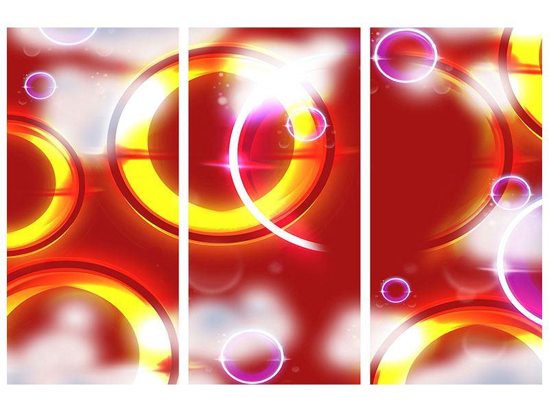 Klebeposter 3-teilig Abstraktes Retro