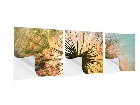 Panoramic 3 Piece Self-Adhesive Poster XXL Dandelion