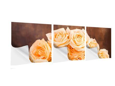 Panorama Klebeposter 3-teilig Die Rosenzeit