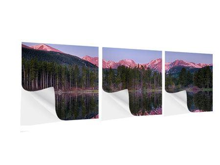 Panorama Klebeposter 3-teilig Sprague Lake-Rocky Mountains