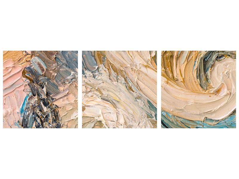 Panorama Klebeposter 3-teilig Ölgemälde