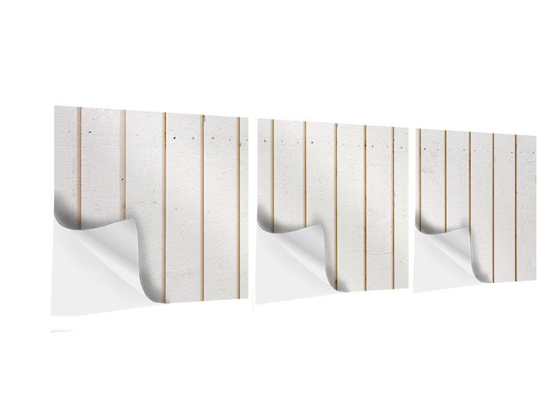 Panorama Klebeposter 3-teilig Mediterranes Holz