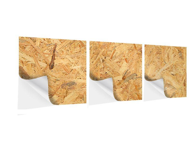 Panorama Klebeposter 3-teilig Gepresstes Holz