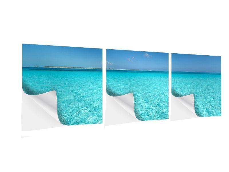 Panorama Klebeposter 3-teilig Das Meer und Jules Verne