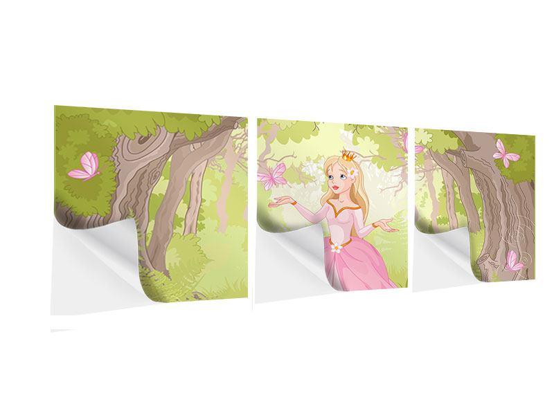 Panorama Klebeposter 3-teilig Princess