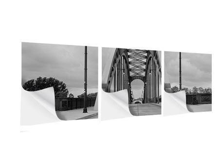 Panorama Klebeposter 3-teilig Poetische Brücke