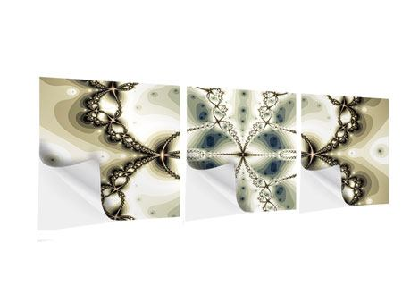 Panorama Klebeposter 3-teilig Abstrakter Schmetterling