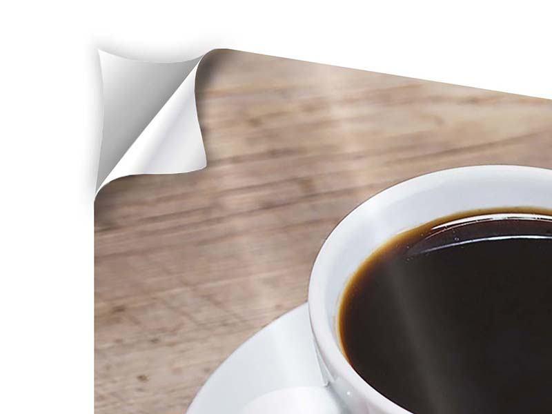 Panorama Klebeposter 3-teilig Coffee