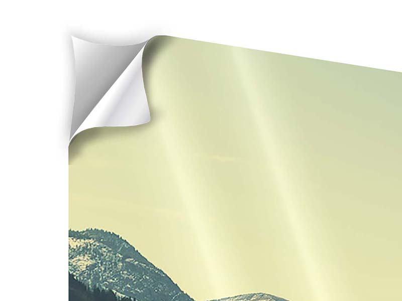 Panorama Klebeposter 3-teilig Der Bergsee