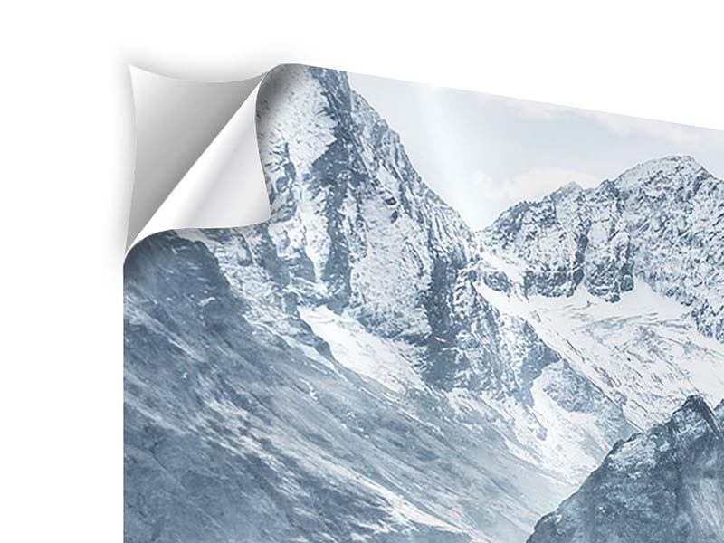 Panorama Klebeposter 3-teilig Gigantische Berggipfel