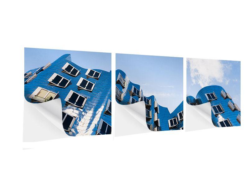 Panorama Klebeposter 3-teilig Neuer Zollhof