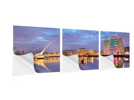 Panorama Klebeposter 3-teilig Samuel Beckett Bridge