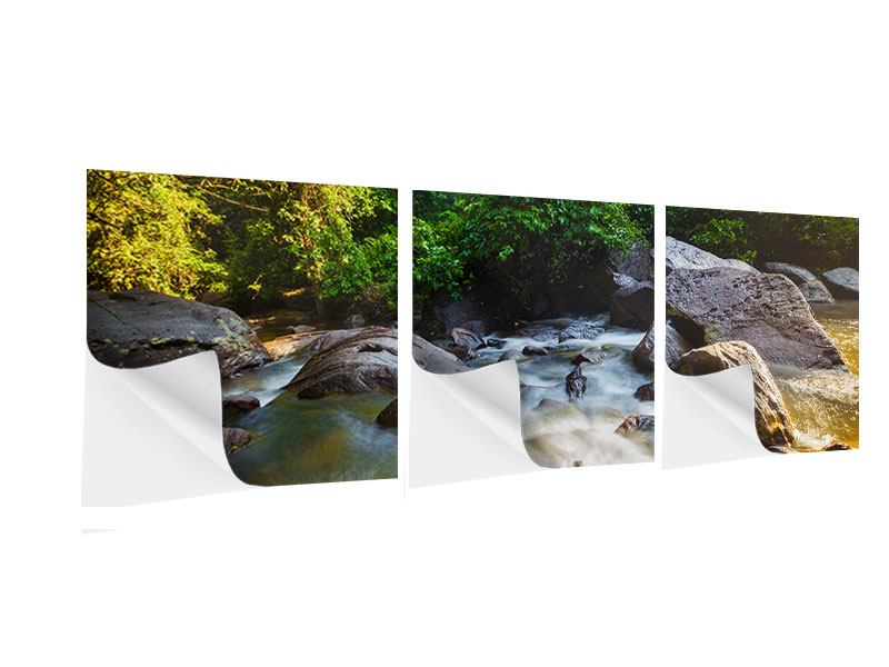 Panorama Klebeposter 3-teilig Das Gewässer