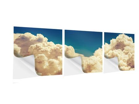 Panorama Klebeposter 3-teilig Himmelswolken