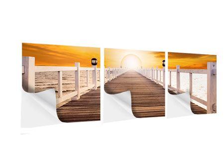 Panorama Klebeposter 3-teilig Die Brücke Ins Glück
