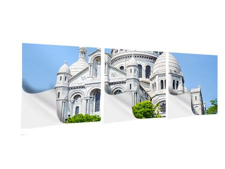 Panorama Klebeposter 3-teilig Paris- Montmartre